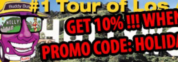 Holiday Promo get 10% off LA City Tour!