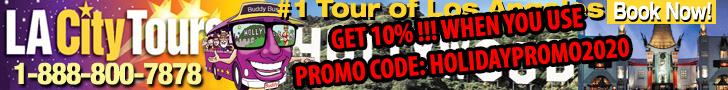 Save 10% When You Use Promo Code HOLIDAYPROMO2020 - LA City Tours